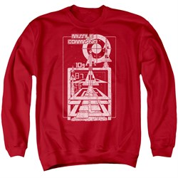Image of Atari Sweatshirt Lift Off Adult Red Sweat Shirt