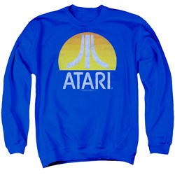 Image of Atari Sweatshirt Logo Adult Royal Sweat Shirt