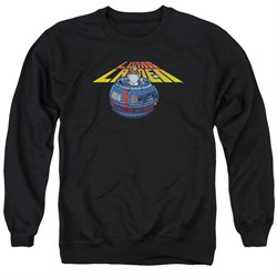 Image of Atari Sweatshirt Lunar Globe Adult Black Sweat Shirt