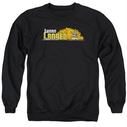 Image of Atari Sweatshirt Lunar Lander Adult Black Sweat Shirt