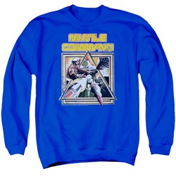 Image of Atari Sweatshirt Missile Commander Adult Royal Blue Sweat Shirt
