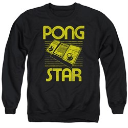 Image of Atari Sweatshirt Pong Star Adult Black Sweat Shirt