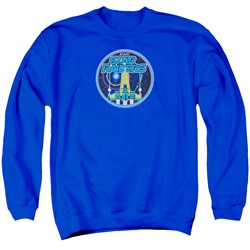 Image of Atari Sweatshirt Star Raiders Badge Adult Royal Blue Sweat Shirt