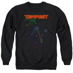 Image of Atari Sweatshirt Tempest Screen Adult Black Sweat Shirt