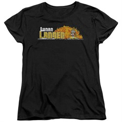 Image of Atari Womens Shirt Lunar Lander Black T-Shirt