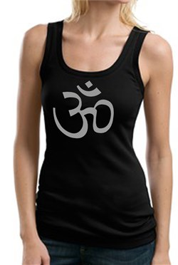 Ladies Yoga Tank ? Aum Symbol Meditation Cotton Tanktop