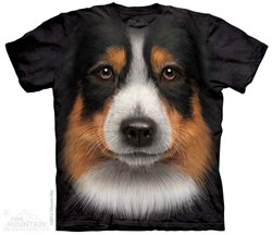 Image of Australian Shepherd Shirt Tie Dye Adult T-Shirt Tee