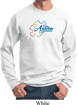 Image of Autism Awareness Puzzle Sweatshirt