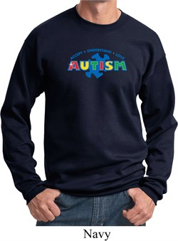Image of Autism Accept Understand Love Sweatshirt