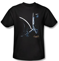 Batman T-Shirt - Arkham Batman Adult Black