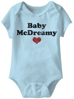 Image of Baby McDreamy Funny Baby Romper Light Blue Infant Babies Creeper