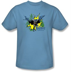 Batman T-Shirt - City Splash Adult Carolina Blue Tee