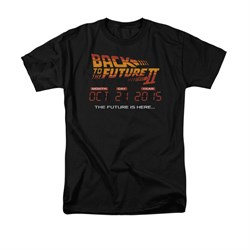Image of Back To The Future II Shirt Future Is Here Adult Black Tee T-Shirt