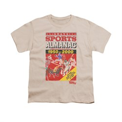 Back To The Future II Shirt Kids Sports Almanac Cream Youth Tee T-Shirt