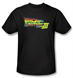 Image of Back To The Future III Kids T-shirt Movie Logo Black Shirt Tee Youth