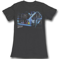 Image of Back To The Future Juniors Shirt Serious Style Black Tee T-Shirt