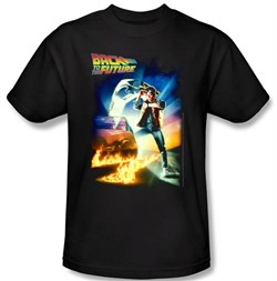 Image of Back To The Future Kids T-shirt Movie Poster Black Shirt Youth