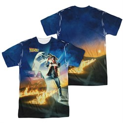 Image of Back To The Future Movie Poster Sublimation Shirt Front/Back Print