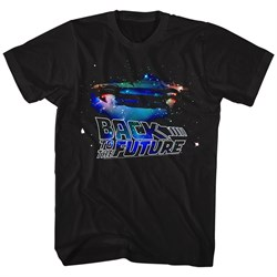Image of Back To The Future Shirt Galaxy Black T-Shirt