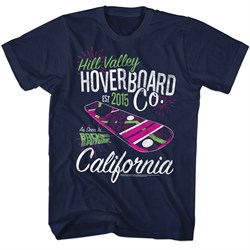 Image of Back To The Future Shirt Hill Valley HoverBoard Co Navy T-Shirt