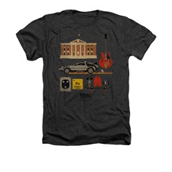 Image of Back To The Future Shirt Items Adult Heather Charcoal Tee T-Shirt