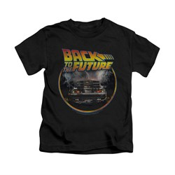 Image of Back To The Future Shirt Kids Back Black Youth Tee T-Shirt