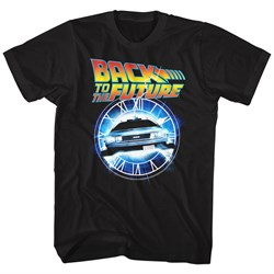 Image of Back To The Future Shirt Out Of Time Black T-Shirt