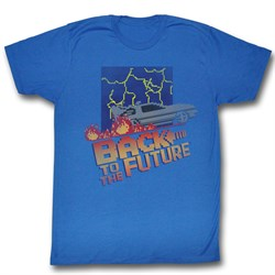 Image of Back To The Future Shirt Pixel Royal Blue T-Shirt