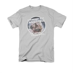Image of Back To The Future Shirt Synchronize Watches Adult Silver Tee T-Shirt
