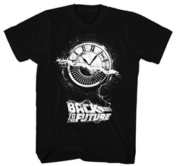 Image of Back To The Future Shirt Wheel Of Time Black T-Shirt