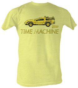 Image of Back To The Future T-Shirt ? Delorean Bright Yellow Adult Tee Shirt