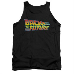 Image of Back To The Future Tank Top Logo Black Tanktop