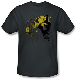 Image of Batman T-Shirt - The Dark City Adult Charcoal Grey Tee