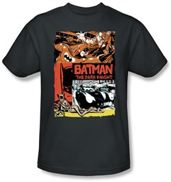 Batman T-Shirt - Old Movie Poster Adult Grey Tee