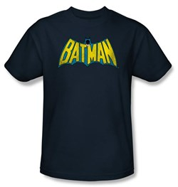 Image of Batman Kids T-Shirt - Classic Batman Logo Youth Navy Blue Tee