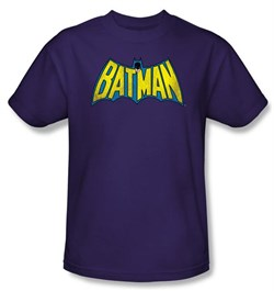 Batman Kids T-Shirt - Classic Batman Logo Youth Purple Tee