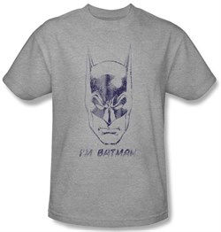 Batman T-Shirt - I'm Batman Adult Athletic Heather Grey Tee