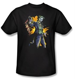 Batman Kids T-Shirt - Joker Bang Youth Charcoal Tee
