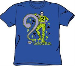 Batman T-shirt - The Riddler DC Comics Adult Royal Blue Tee