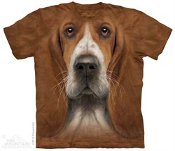 Image of Basset Hound Shirt Tie Dye Adult T-Shirt Tee