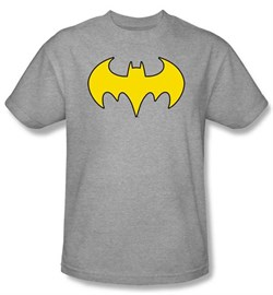 Batgirl T-shirt ? Logo DC Comics Adult Athletic Heather Tee