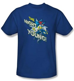 Batgirl T-shirt ? The Night Is Young DC Comics Adult Royal Blue Tee
