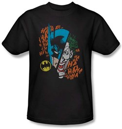 Batman And Robin Kids T-shirt - Broken Visage DC Comics Black Youth