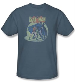 Batman And Robin T-shirt - In The Spotlight DC Comics Adult Slate