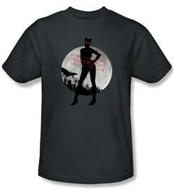 Batman T-Shirt - Arkham City Catwoman Convicted Adult Charcoal Tee