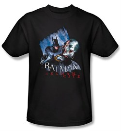 Batman T-Shirt - Arkham City Joke's On You! Adult Black Tee