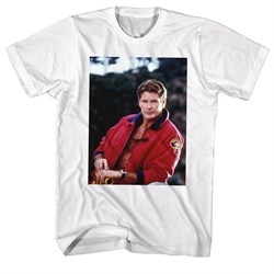 Image of Baywatch Shirt Hoff Stare White T-Shirt