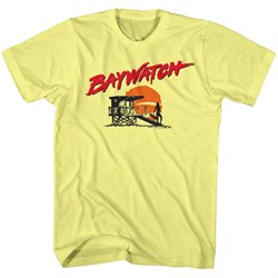 Image of Baywatch Shirt Silhoutte Yellow T-Shirt