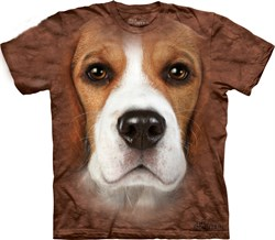 Image of Beagle Shirt Tie Dye Dog Face T-shirt Adult Tee