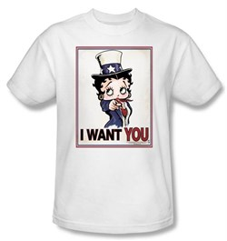 Image of Betty Boop T-shirt Auntie Boop Adult White Tee